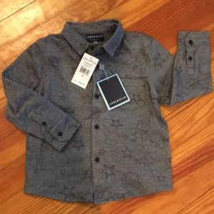 Andy & Evan Galaxy knit button down